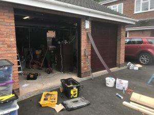 Before The Garage Door Installation